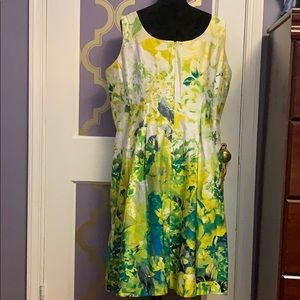 Nine West Floral Fit & Flare Dress